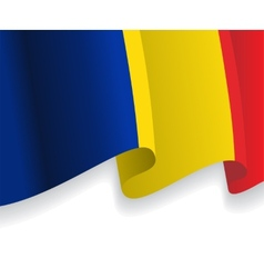 Background with waving romanian flag vector