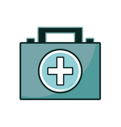 briefcase and first aid kit urgency vector image