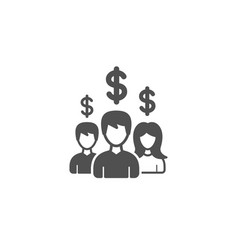 Business networking simple icon dollar sign vector