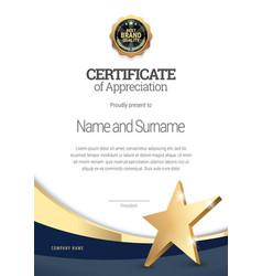 Certificate template diploma of modern design vector