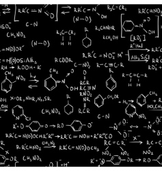 chemistry formulas vector image