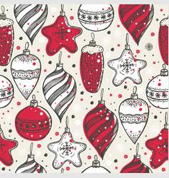 Christmas seamless pattern with christmas symbols vector