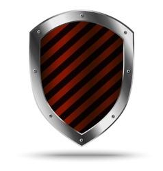 Classic metal shield Protection or hazard symbol vector image