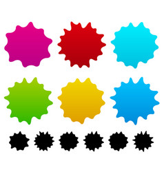 colorful ink stain ink spot shapes vector image