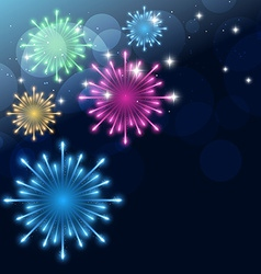 Colroful fireworks vector