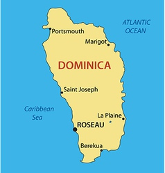 Commonwealth of Dominica - map vector image