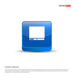 computer icon - 3d blue button vector image