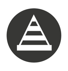 Cone tool construction icon vector