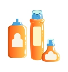 Cream Shampoo And Gel Containers Beauty And vector
