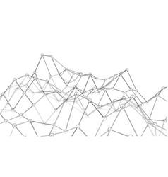 creative social network rendering of 3d vector image