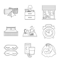 design of dreams and night sign collection vector image