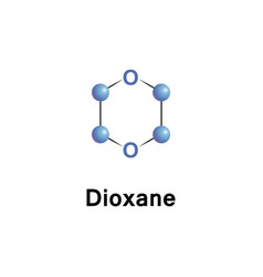 Dioxane is a heterocyclic organic vector
