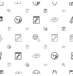 Disease icons pattern seamless white background vector