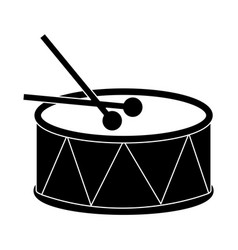 Drum with sticks icon image vector