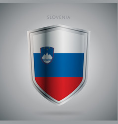 Europe flags series slovenia modern icon vector