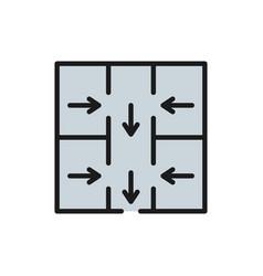 evacuation plan emergency sign flat vector image