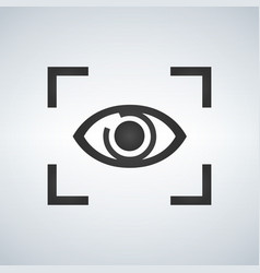 Eye focus flat icon isolated on modern background vector