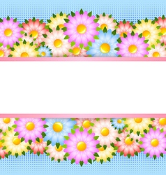 Flower card template vector image