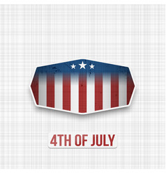Fourth of july badge for print or web vector