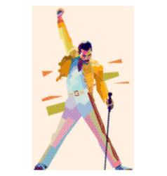 Freddie mercury pixel art style vector