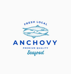 fresh local anchovy abstract sign symbol vector image