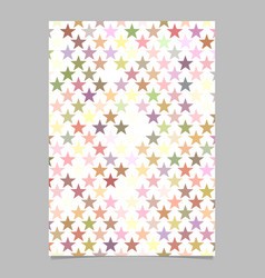 Geometric star pattern background flyer template vector