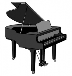grand piano vector image vector image