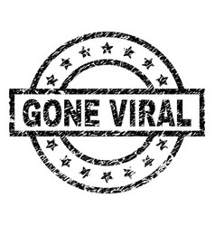 Grunge textured gone viral stamp seal vector