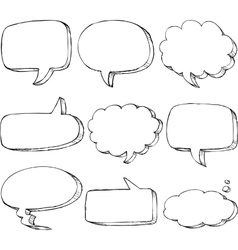 Hand drawn comic speech bubble vector image