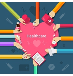 Healthcare flat concept vector