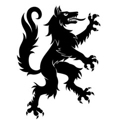 Heraldic wolf simple vector