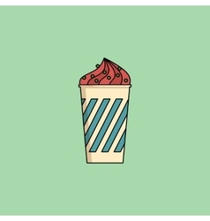 Ice cream in cup with sprinkling vector image
