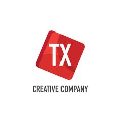 initial letter tx logo template design vector image