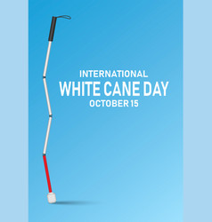 international white cane day concept banner vector image