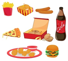 Junk food vector