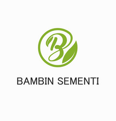 Letter b logo - leaf vector