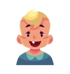 Little boy face wow facial expression vector image