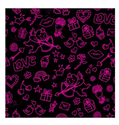 lovely doodles vector image
