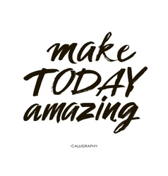 Make today amazing Inspirational quote vector image