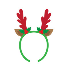 mask with reindeer antler vector image