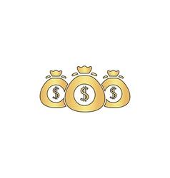 Money bag computer symbol vector