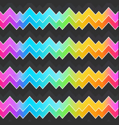 neon zigzag seamless pattern vector image