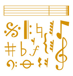 Notes music melody colorfull musician vector