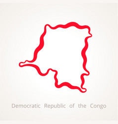 Outline map of democratic republic of the congo vector