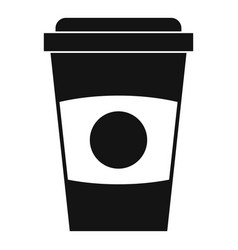 Paper coffee cup icon simple style vector