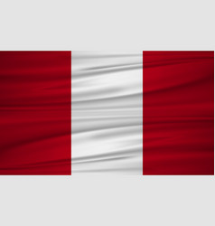 peru flag flag of peru blowig in the wind eps 10 vector image