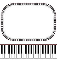 Piano keys frame vector