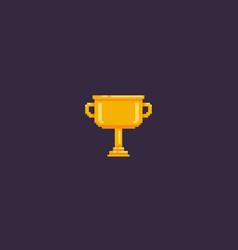 pixel art cup vector image