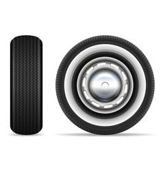 Retro car wheels vector