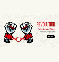 Revolution concept homepage design vector